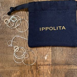 IPPOLTA hand hammered sterling silver drop earring